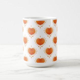 Orange hjärtamugg kaffemugg