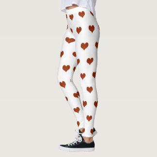 Orange hjärtor leggings