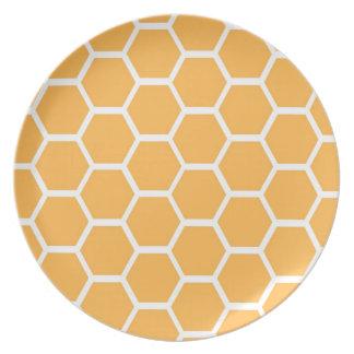 Orange honungskakamönster tallrik