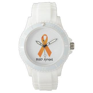 Orange hopp för Leukemia för bandklocka RSD för en Armbandsur