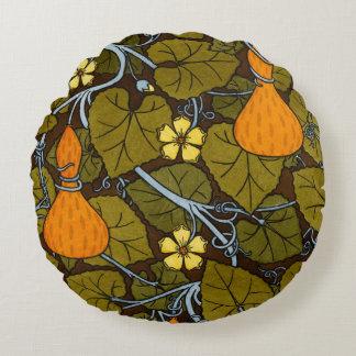 Orange kalebasser rund kudde