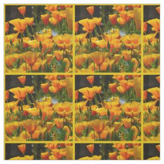 Orange Kalifornien Poppies_3.3.y Tyg