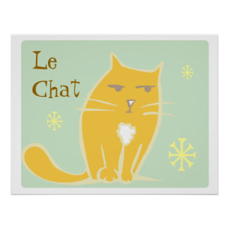 Orange katt affischer