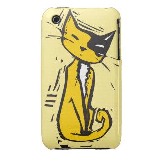 Orange katt iPhone 3 Case-Mate fodral
