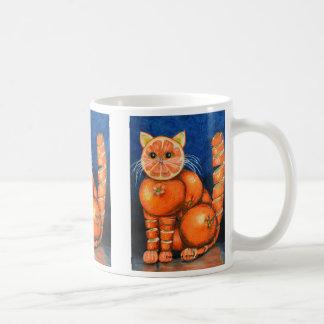 Orange kattmugg kaffemugg