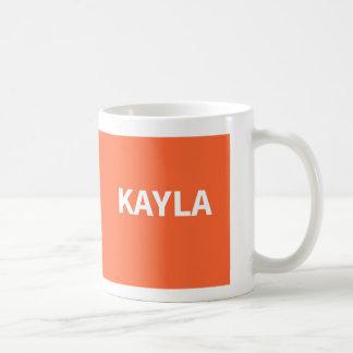 Orange Kayla namn Vit Mugg