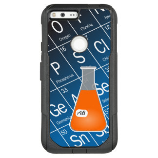 Orange kemi för Erlenmeyer flaska (med initialer) OtterBox Commuter Google Pixel XL Skal