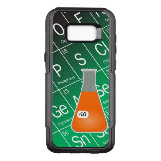 Orange kemi för Erlenmeyer flaska (med initialer) OtterBox Commuter Samsung Galaxy S8+ Skal