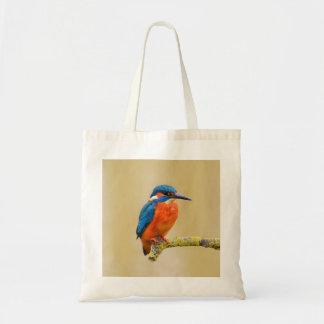 Orange Kingfisherfågel för blått Budget Tygkasse