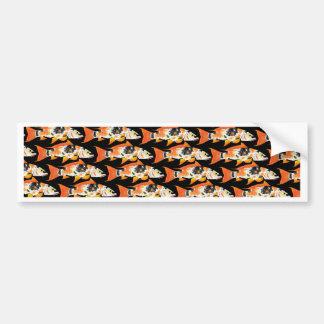 Orange koiCarpmönster i svart Bildekal