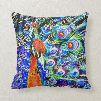 orange konstnärligt grafiskt för påfågel och för kudde