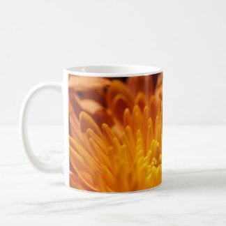Orange kopp för Chrysanthemumvitmugg