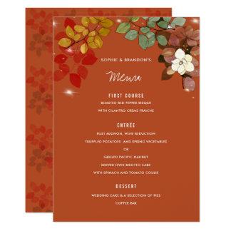Orange kort för meny för bröllop för 12,7 x 17,8 cm inbjudningskort