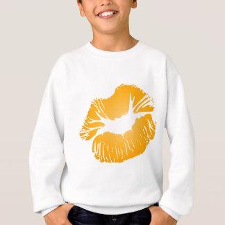 Orange läppar tröja