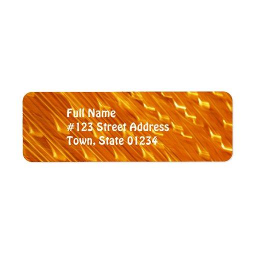 Orange Lavabrevskickandeetiketter Returadress Etikett
