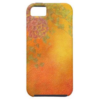 Orange lavendel för SherbetmurgrönaVines blommar iPhone 5 Fodral