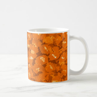 Orange Leopardtryck Kaffemugg