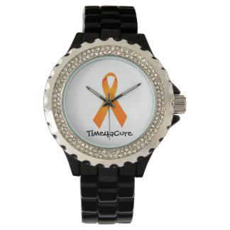 Orange Leukemia Time för bandklocka RSD för en bot Armbandsur