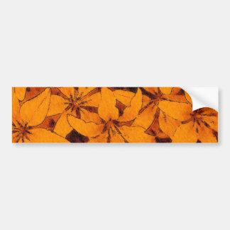 Orange liljabildekal bildekal