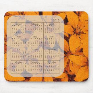 Orange liljaMousepad 2015 kalender Musmatta