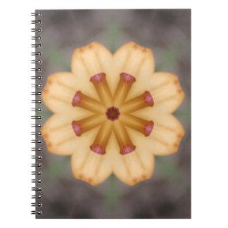 Orange liljaPistils Anteckningsbok Med Spiral
