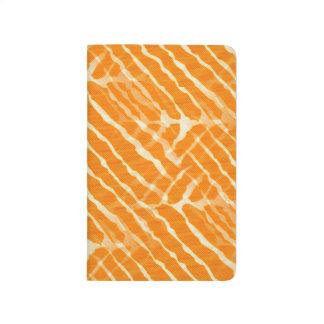Orange Look för tigerrandkanfas Anteckningsbok