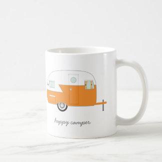 Orange lycklig camparemugg vit mugg