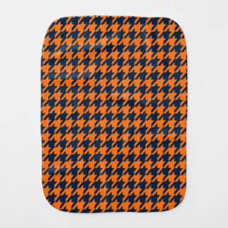 Orange/marinblåa Houndstooth Bebistrasa