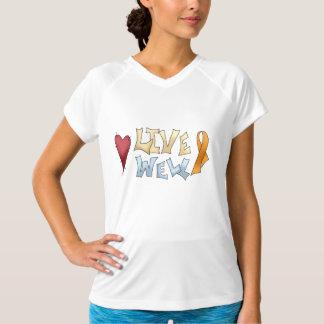 Orange medvetenhetband för levande Brunn Tee Shirt