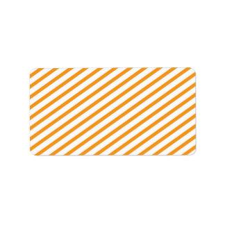 Orange mönster för diagonal rand adressetikett