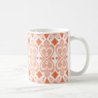 Orange mönsterkaffemugg kaffemugg