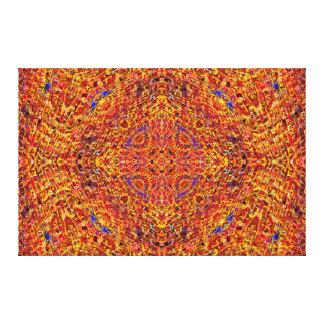 """""""Orange mosaisk Mandala 2"""", Canvastryck"""