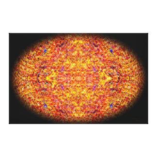 Orange mosaisk oval Mandala Canvastryck