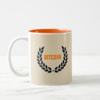 Orange mugg för BITCOIN