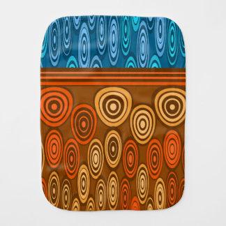 Orange- och blåttdesign bebistrasa