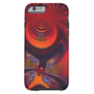 Orange och guld- passion för bärnstensfärgad tough iPhone 6 fodral