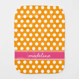 Orange och rosa polka dotsMonogram Bebistrasa