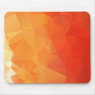 Orange och rött fasettera mönster musmatta