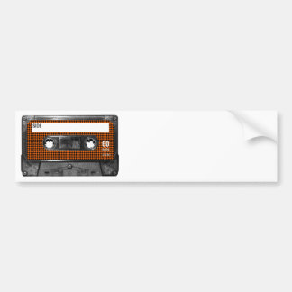 Orange och svart Houndstooth kassett Bildekal