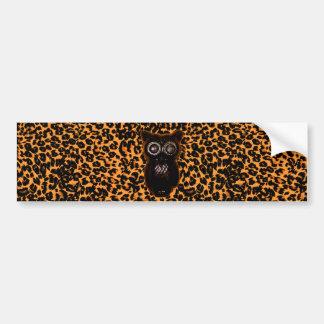 Orange och svartfladdermöss- och Leopardfläckar Bildekal