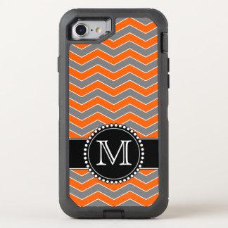 Orange- och svartsparre, Monogrammed tuff OtterBox Defender iPhone 7 Skal