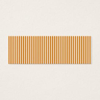 Orange och vit görat randig mönster litet visitkort