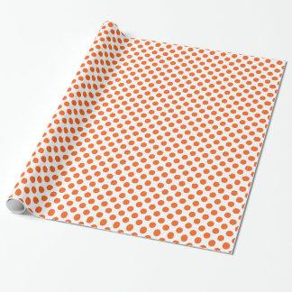 Orange och vit Polkadots Presentpapper