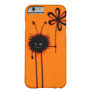 Orange ont blommakryptecken Halloween Barely There iPhone 6 Skal