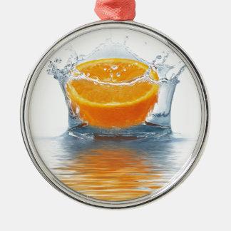Orange plaska i vatten julgransprydnad metall
