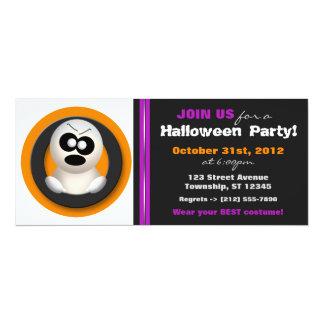 Orange purpurfärgad halloween festinbjudan för 10,2 x 23,5 cm inbjudningskort