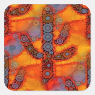 Orange purpurfärgad Southwestern Fyrkantigt Klistermärke