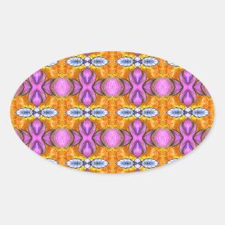 orange purpurfärgade skins orbs ovalt klistermärke