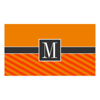 Orange randar som är randiga set av standard visitkort