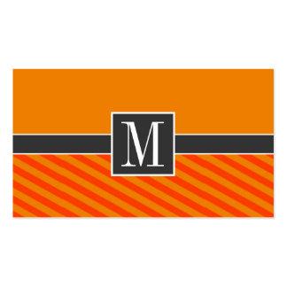 Orange randar som är randiga visitkort mallar
